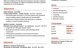 009 Rare Resume Example For Teaching Concept  Sample Position In College Teacher School Principal India