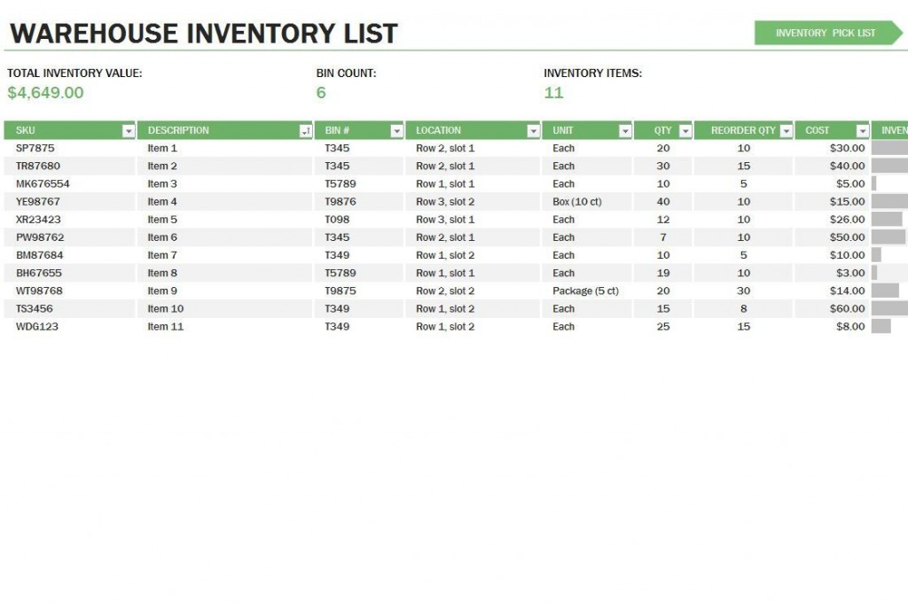 009 Rare Stock Inventory Control Template Excel Free Photo Large