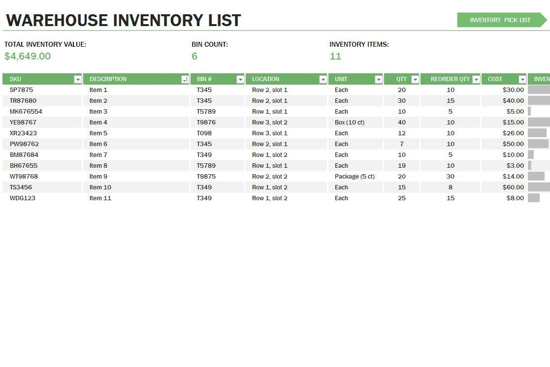 009 Rare Stock Inventory Control Template Excel Free Photo Full