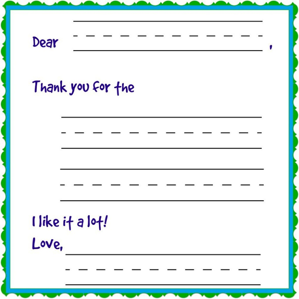 009 Rare Thank You Note Template For Kid High Def  Kids Child Pdf LetterLarge