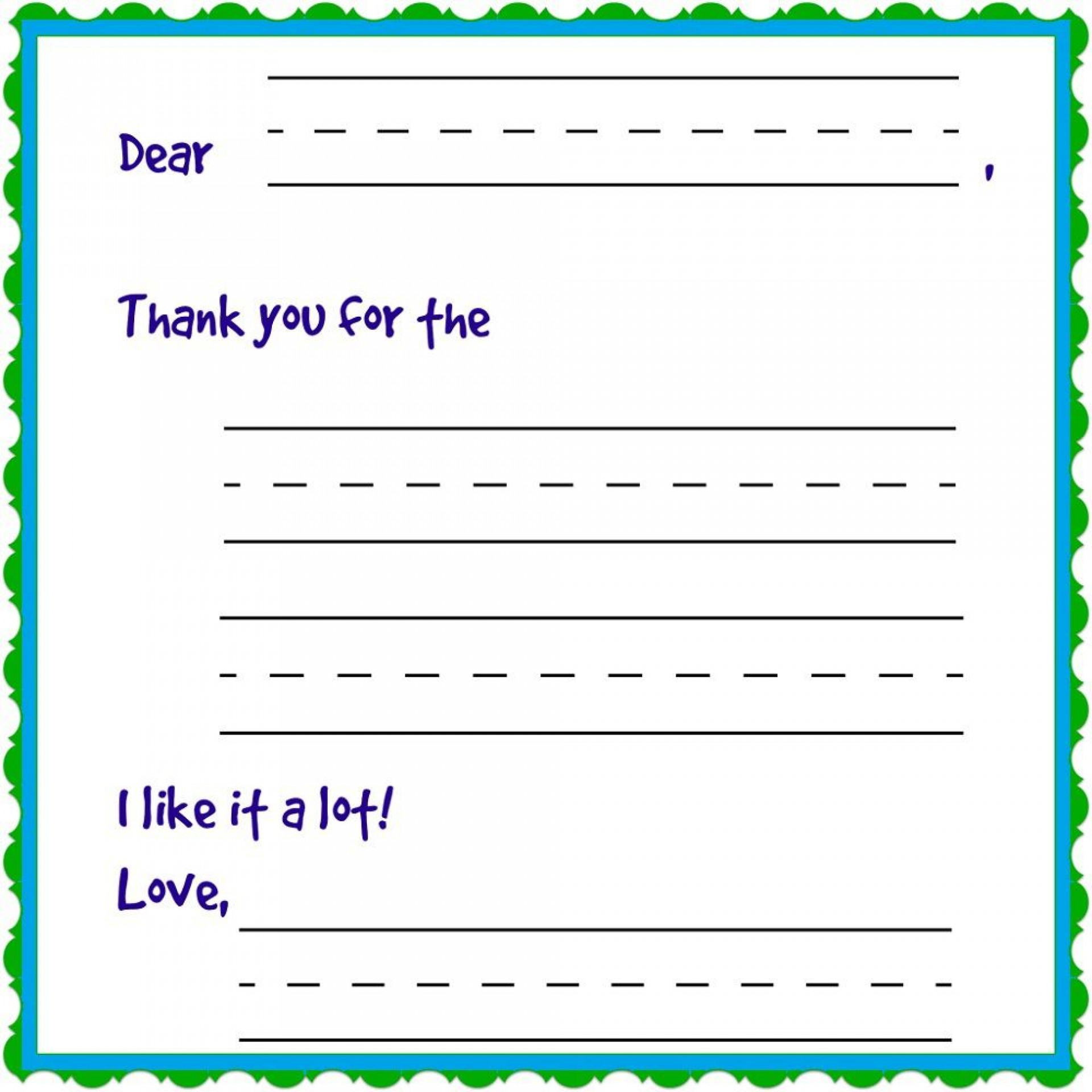 009 Rare Thank You Note Template For Kid High Def  Kids Child Pdf Letter1920