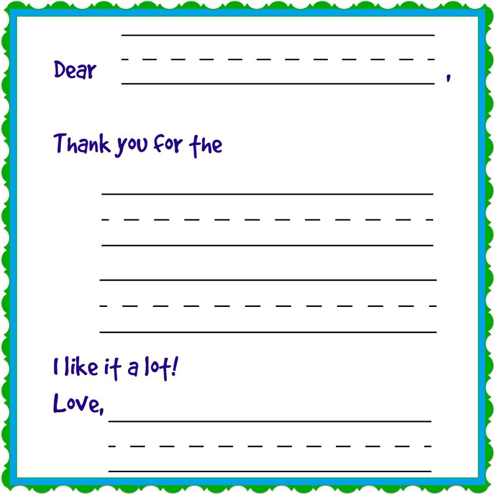 009 Rare Thank You Note Template For Kid High Def  Kids Child Pdf LetterFull