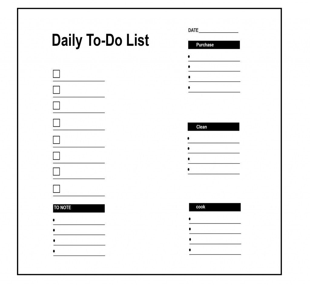 009 Rare To Do List Template Pdf Image Full