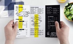 009 Rare Tri Fold Menu Template Design  Templates Restaurant Tri-fold Food Free Psd