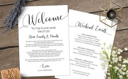 009 Rare Wedding Welcome Bag Letter Template Image  Free