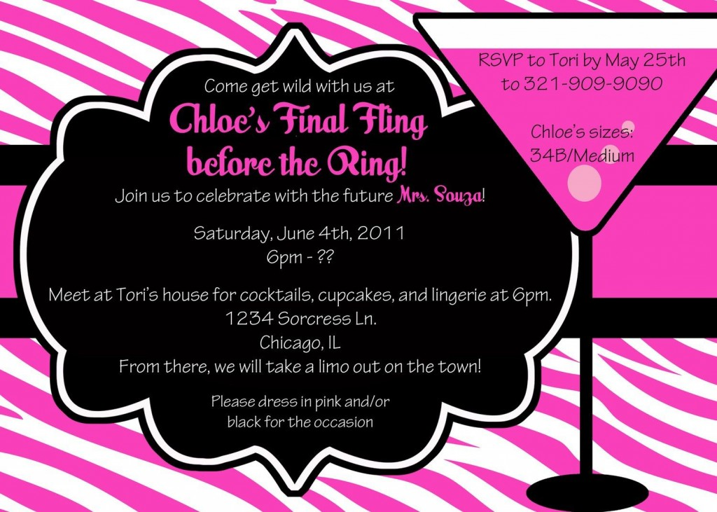 009 Remarkable Bachelorette Party Invitation Template Word Free High Definition Large