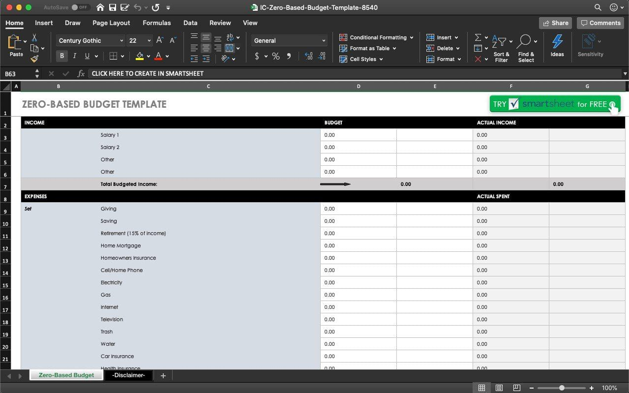 009 Remarkable Easy Excel Budget Template Free Idea Full