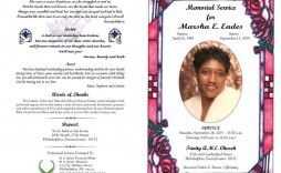 009 Remarkable Example Of Funeral Program Free High Def  Template Pdf Booklet Sample