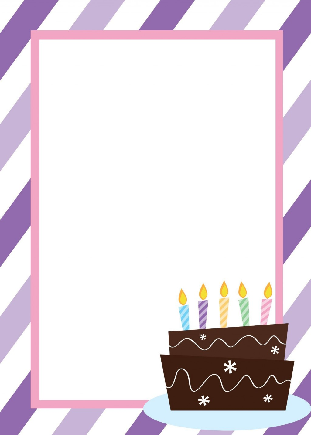 009 Remarkable Free Birthday Card Invitation Template Printable Highest Quality Large