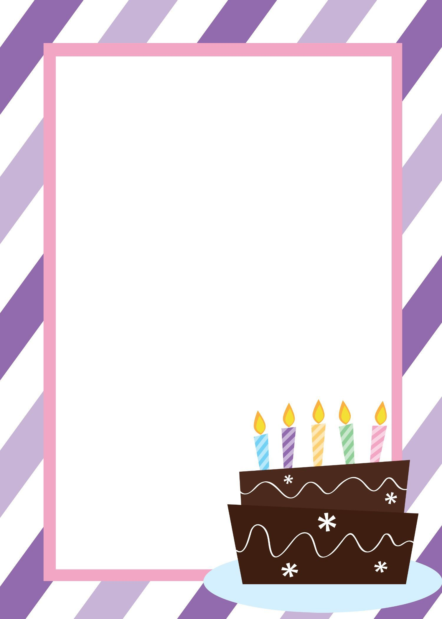 009 Remarkable Free Birthday Card Invitation Template Printable Highest Quality Full