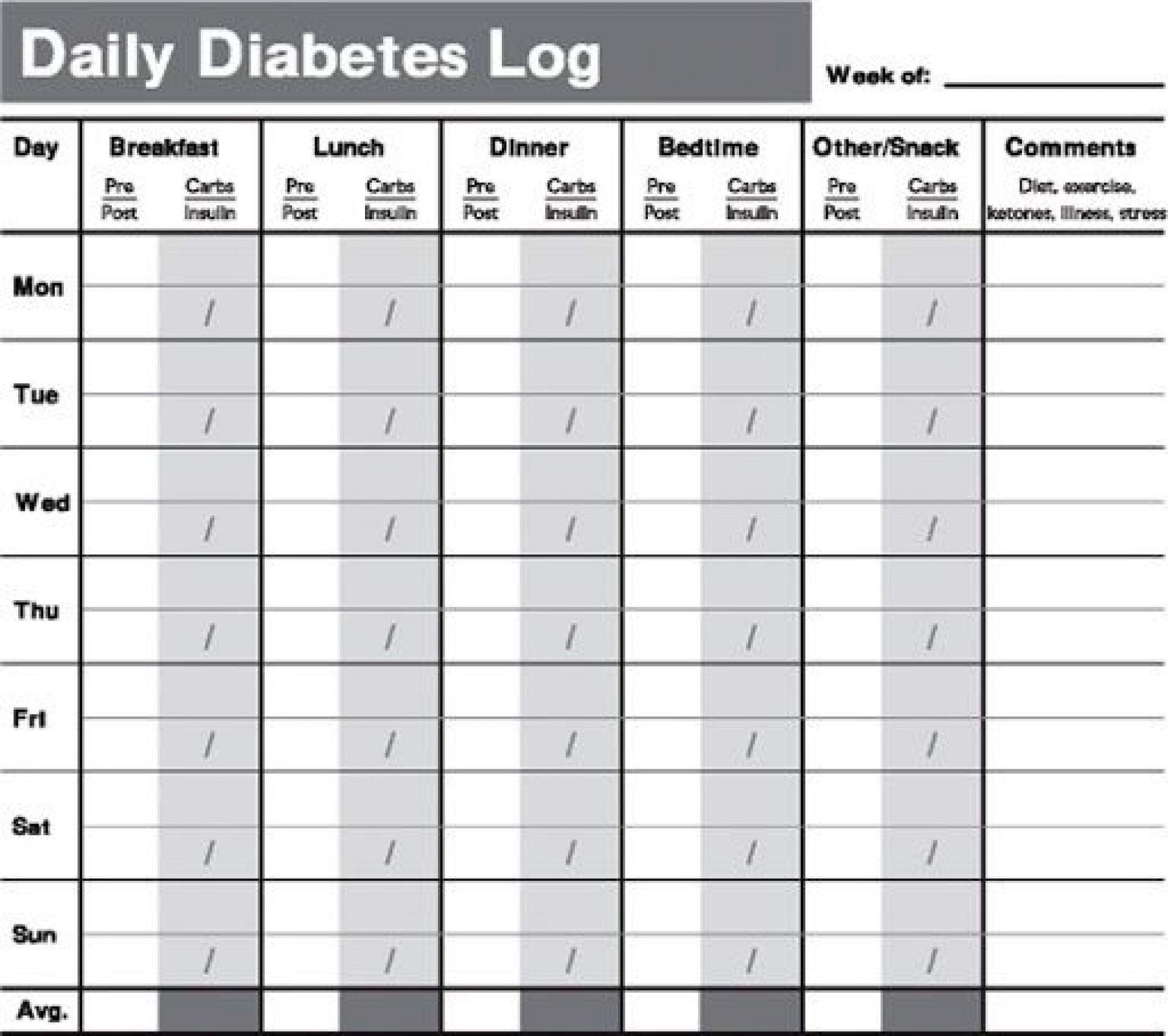 009 Remarkable Free Blood Sugar Log Template Pdf Sample 1920