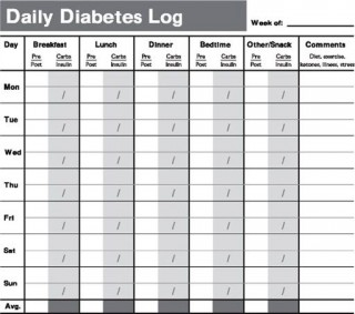 009 Remarkable Free Blood Sugar Log Template Pdf Sample 320