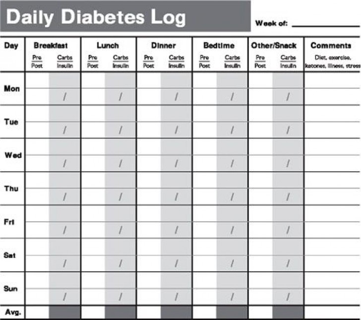 009 Remarkable Free Blood Sugar Log Template Pdf Sample 728