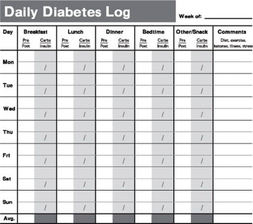 009 Remarkable Free Blood Sugar Log Template Pdf Sample 868