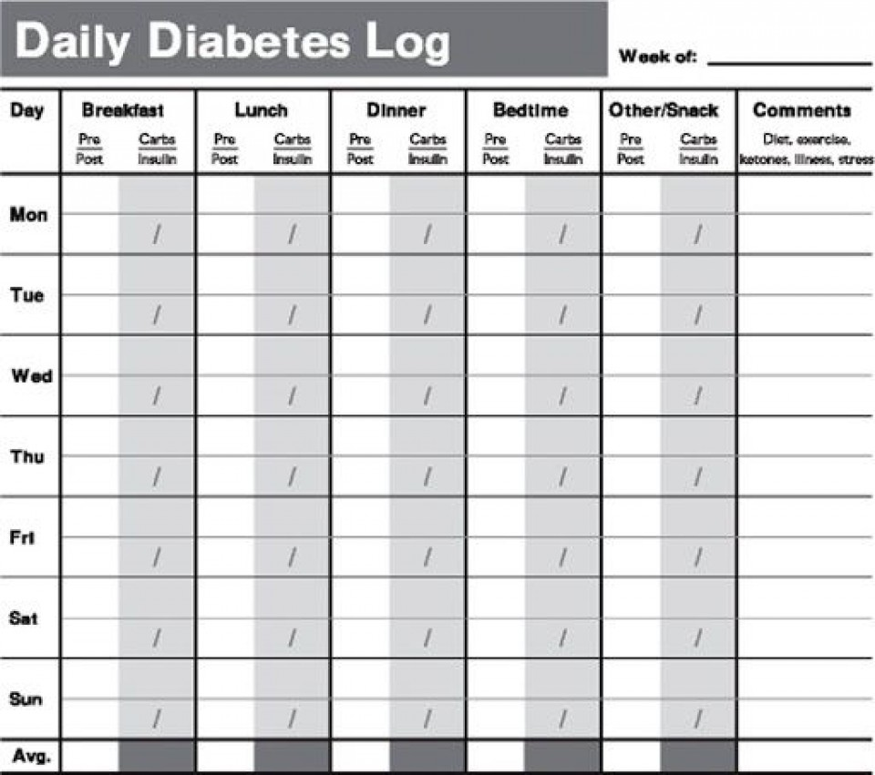 009 Remarkable Free Blood Sugar Log Template Pdf Sample 960
