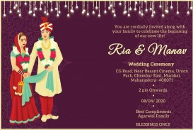009 Remarkable Free Online Indian Wedding Invitation Card Template Idea
