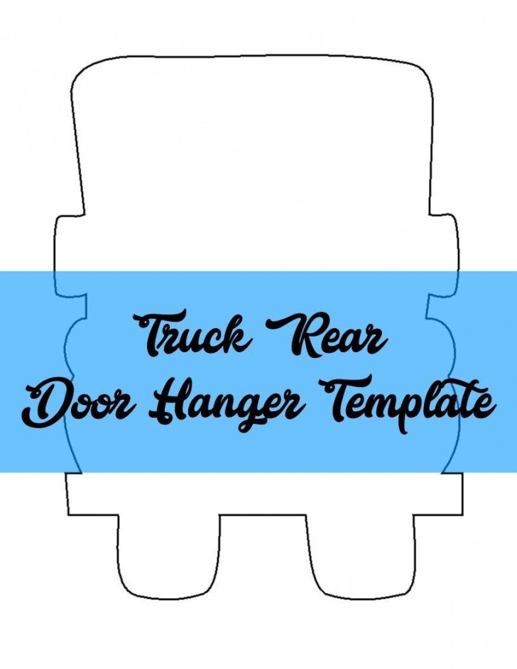 009 Remarkable Free Printable Template For Door Hanger High Definition 728