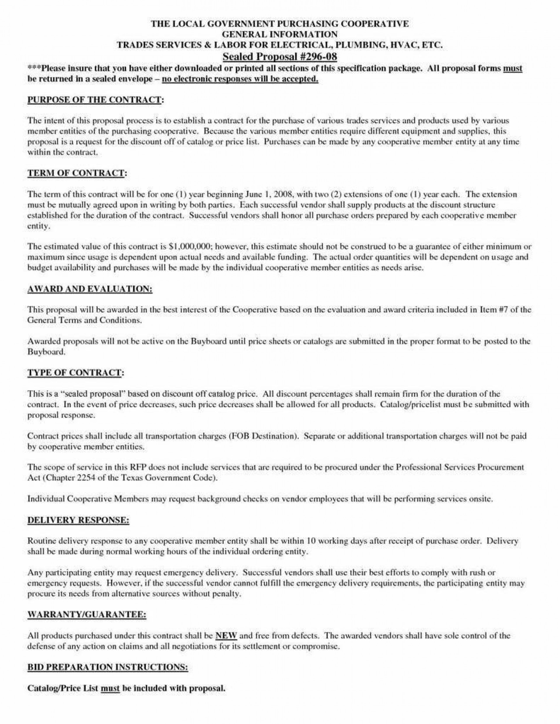 009 Remarkable Hvac Service Agreement Template Sample  Contract Form Maintenance Pdf1920