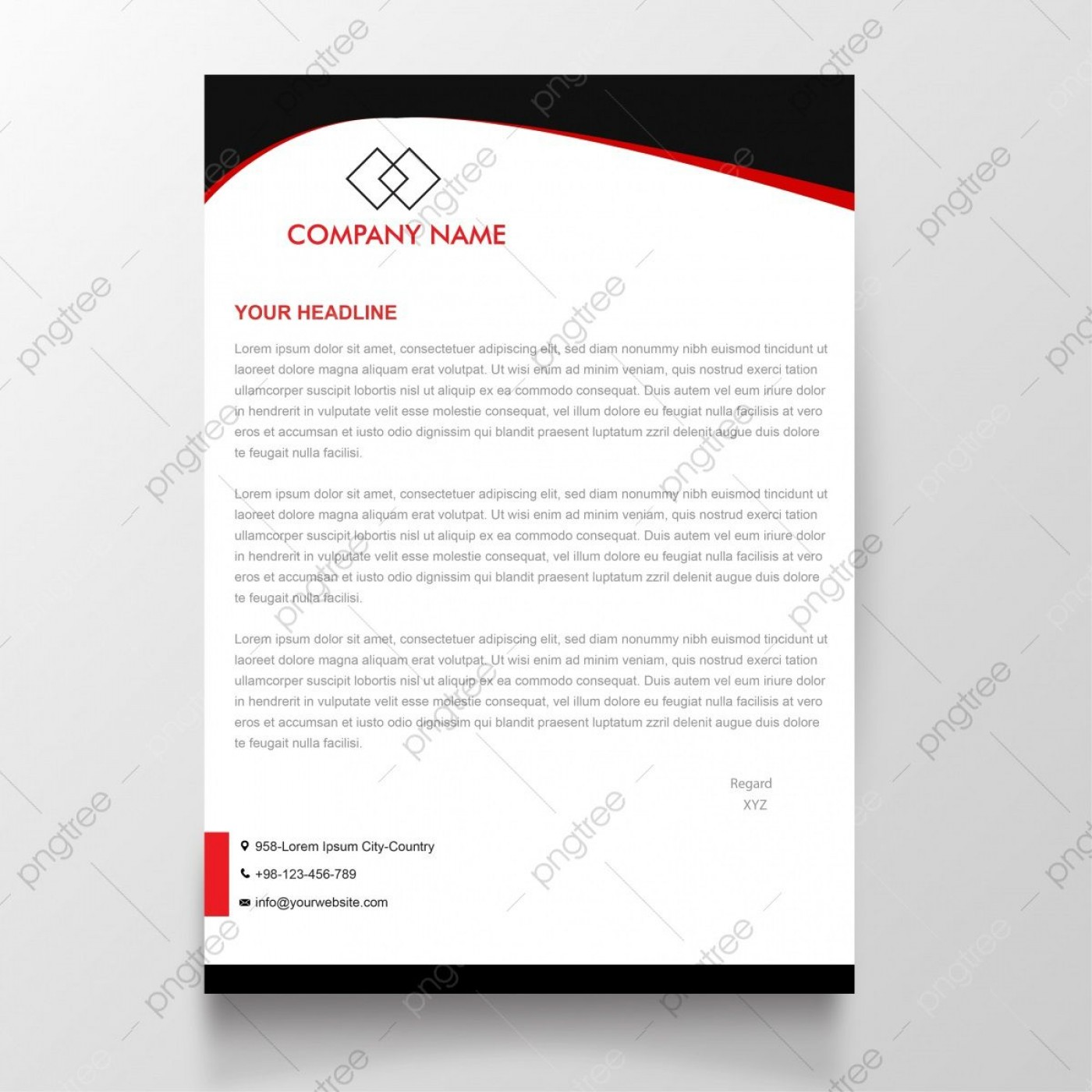 009 Remarkable Letterhead Template Free Download Doc High Def  Company Format1400