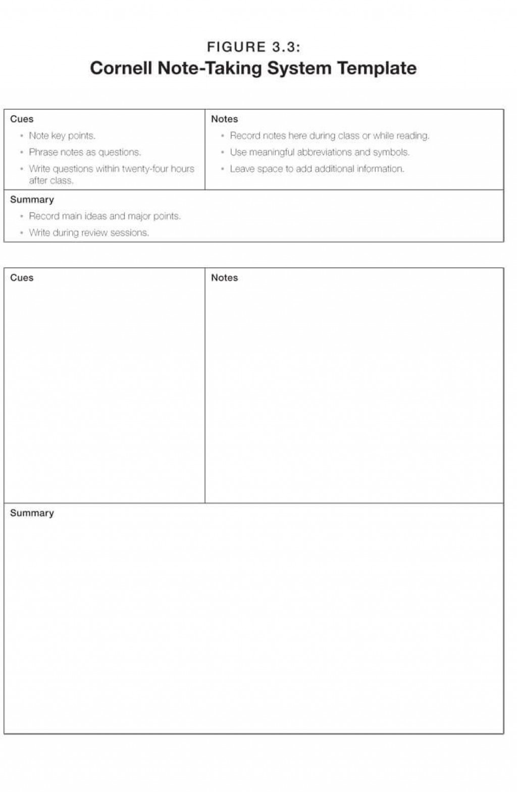 009 Remarkable Note Taking Template Pdf Highest Quality  Free Cornell ExampleLarge