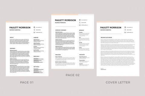 009 Remarkable Professional Resume Template 2018 Free Download High Definition 480