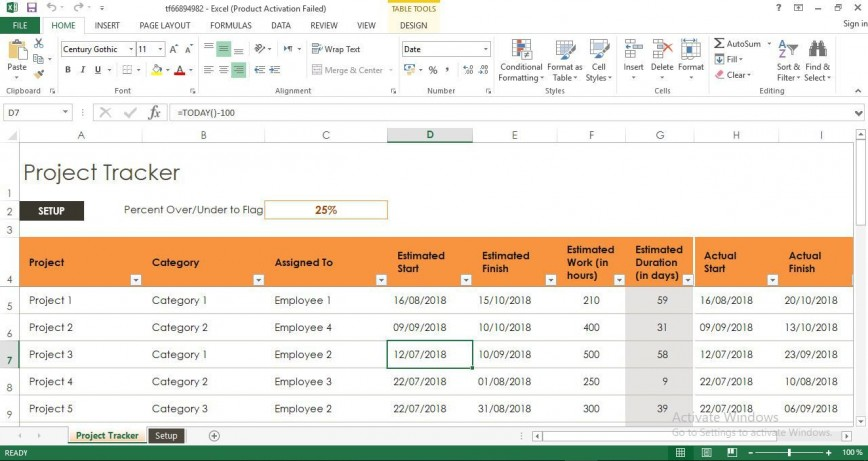 009 Remarkable Project Management Tracking Template Free Excel Idea  Hour Construction