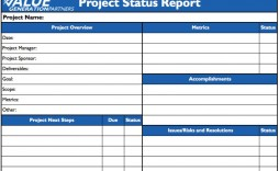 009 Remarkable Project Statu Report Template Example  Excel Download Pdf