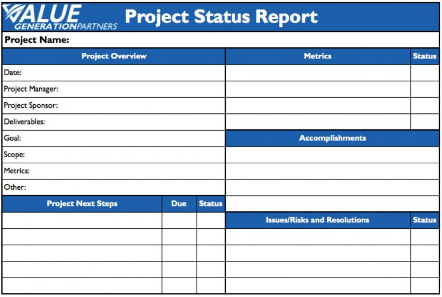 009 Remarkable Project Statu Report Template Example  Pdf Powerpoint Monthly868