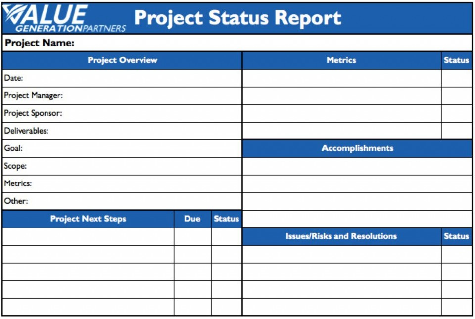 009 Remarkable Project Statu Report Template Example  Pdf Powerpoint Monthly960