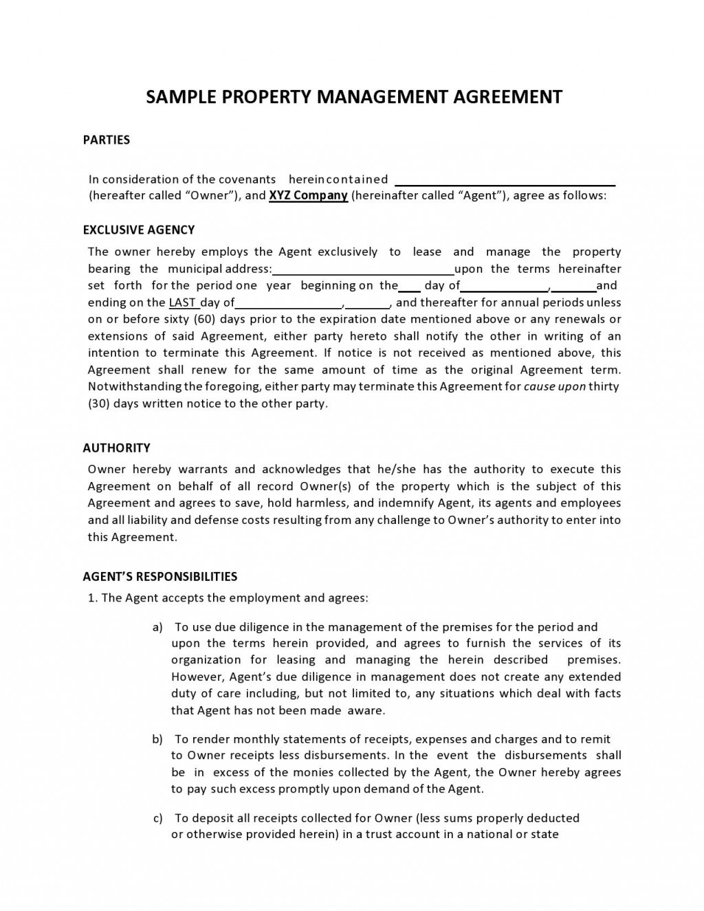 009 Remarkable Property Management Contract Template Uk High Definition  Free Agreement CommercialLarge