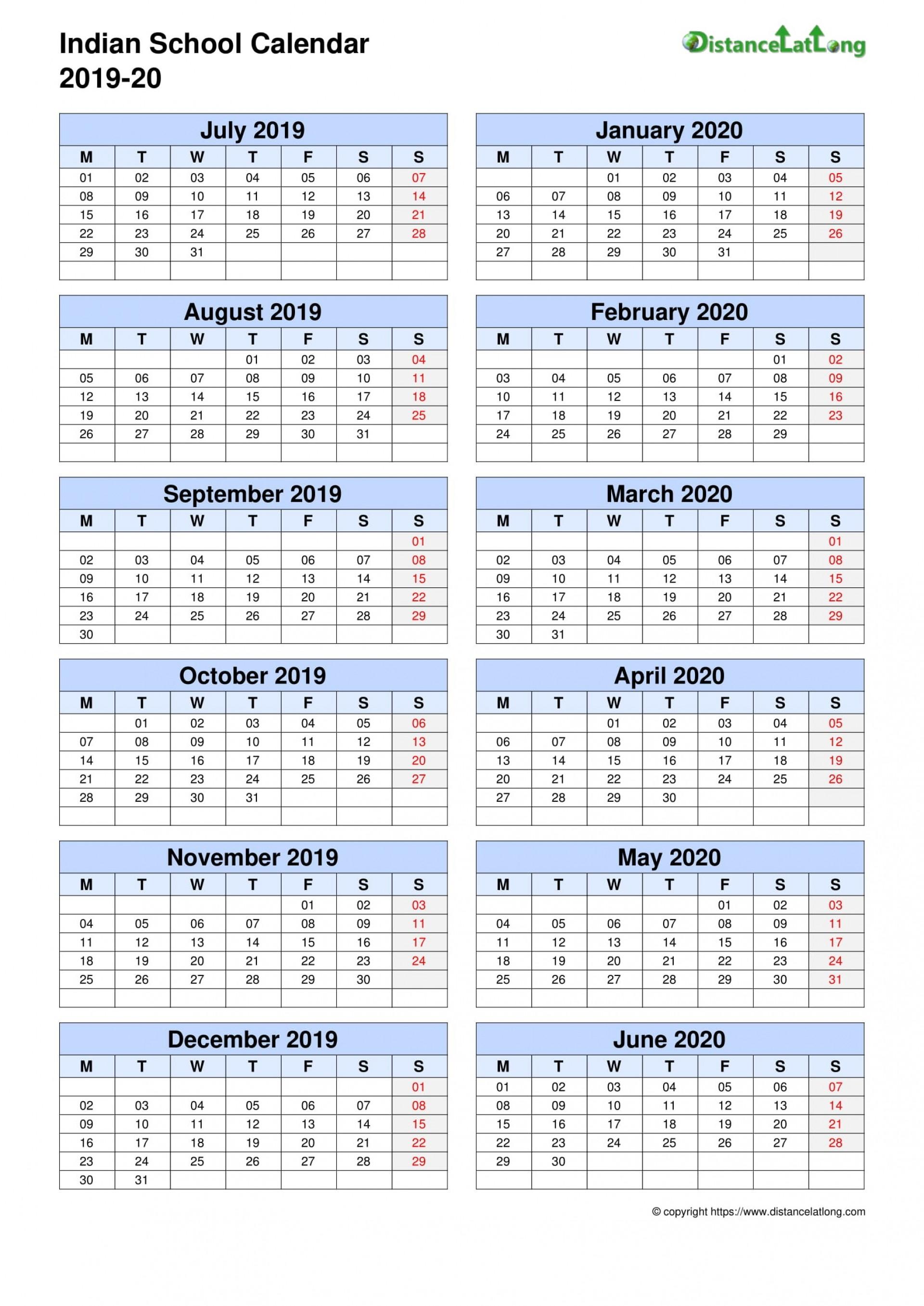 009 Remarkable School Year Calendar Template High Def  Excel 2019-20 Word1920