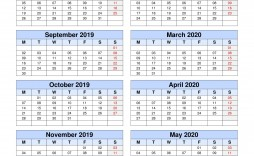 009 Remarkable School Year Calendar Template High Def  Excel 2019-20 Word