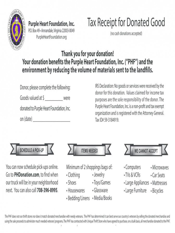 009 Remarkable Tax Donation Form Template Photo  Charitable Sample Letter Ir Receipt For Purpose728