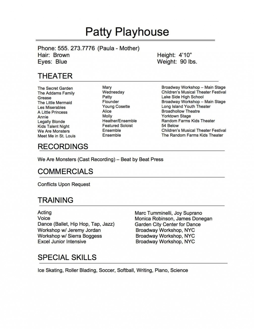 009 Remarkable Technical Theatre Resume Template Highest Clarity  Google Doc TechLarge