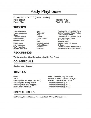 009 Remarkable Technical Theatre Resume Template Highest Clarity  Google Doc Tech320