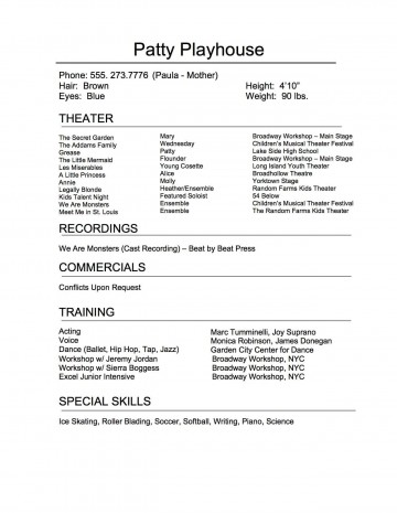 009 Remarkable Technical Theatre Resume Template Highest Clarity  Google Doc Tech360
