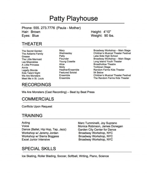 009 Remarkable Technical Theatre Resume Template Highest Clarity  Google Doc Tech480