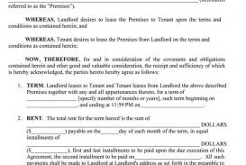 009 Remarkable Template For Property Rental Agreement Sample  Commercial