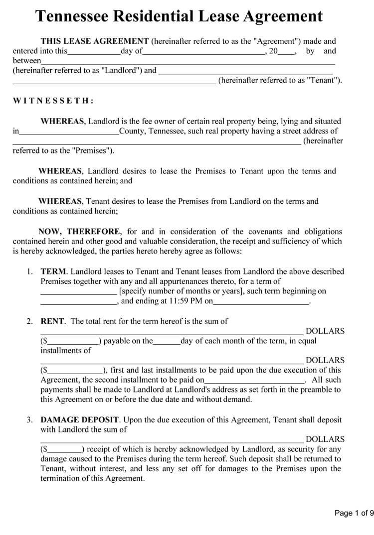 009 Remarkable Template For Property Rental Agreement Sample  CommercialFull