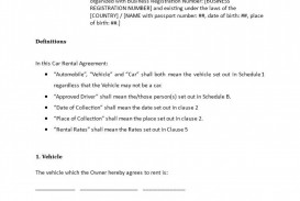 009 Remarkable Template Vehicle Rental Agreement High Definition  Motor Word