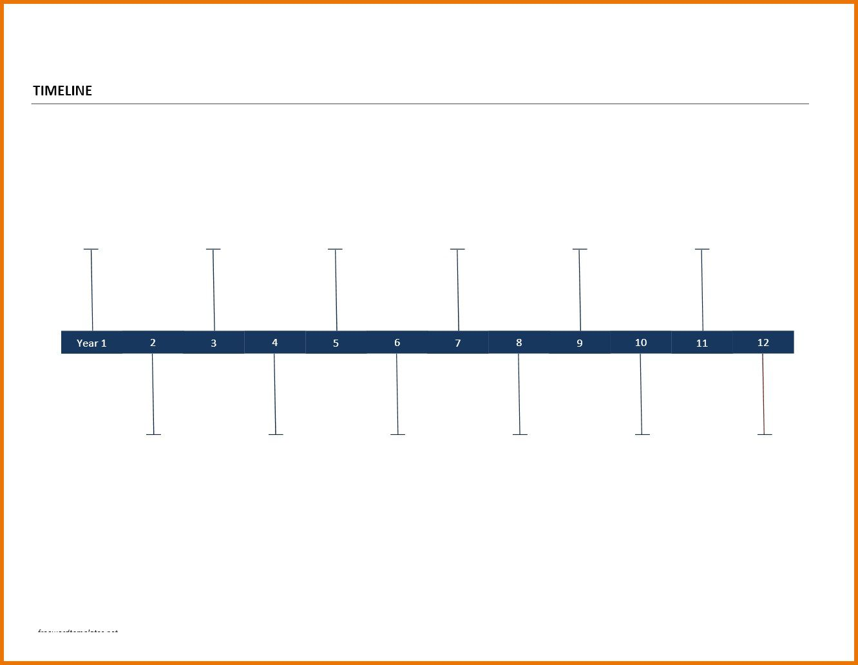 009 Remarkable Timeline Template For Word Inspiration  History DownloadableFull