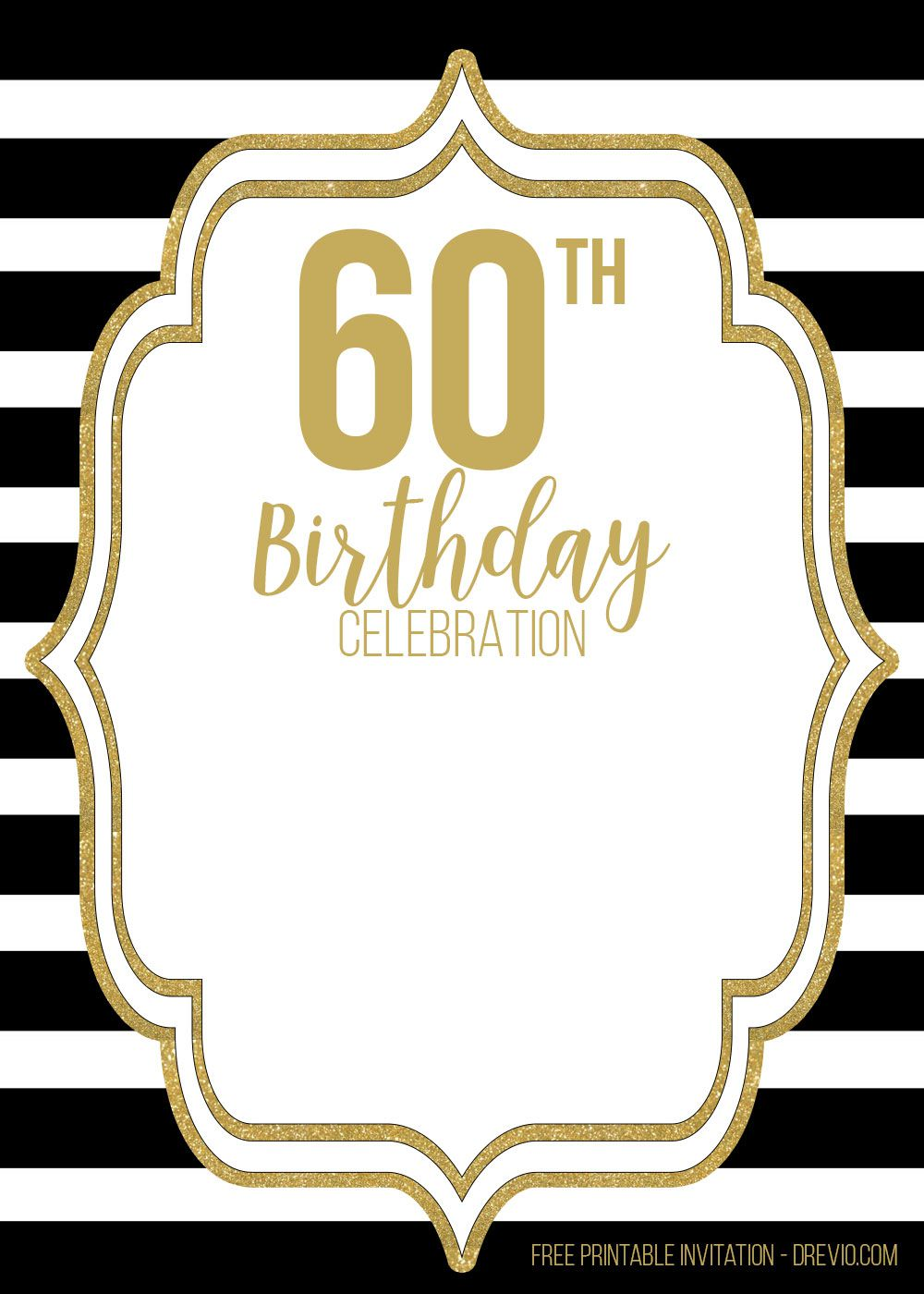 009 Sensational 60th Birthday Invite Template Picture  Templates Funny Invitation Free PartyFull