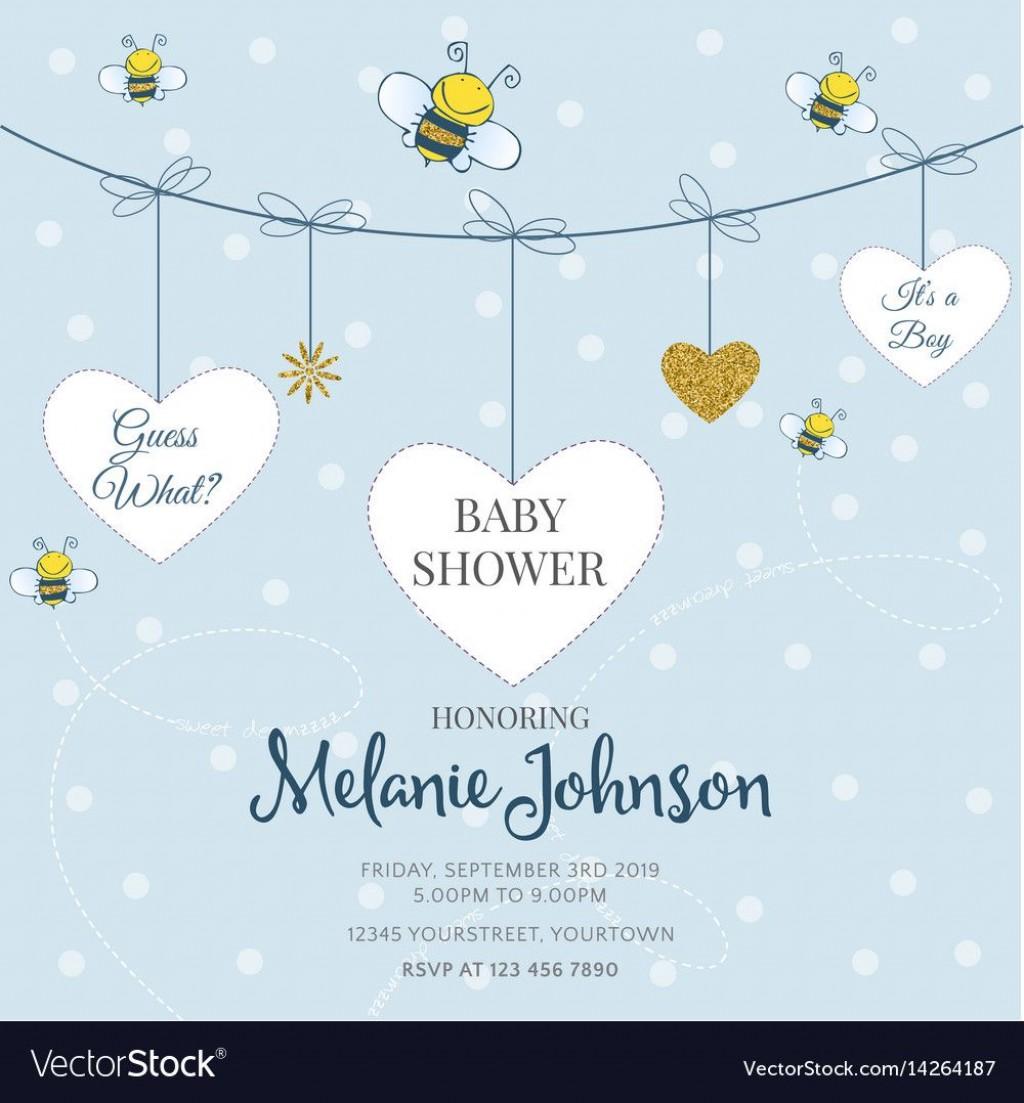 009 Sensational Baby Shower Card Template Idea  Microsoft Word Invitation Design Online Printable FreeLarge