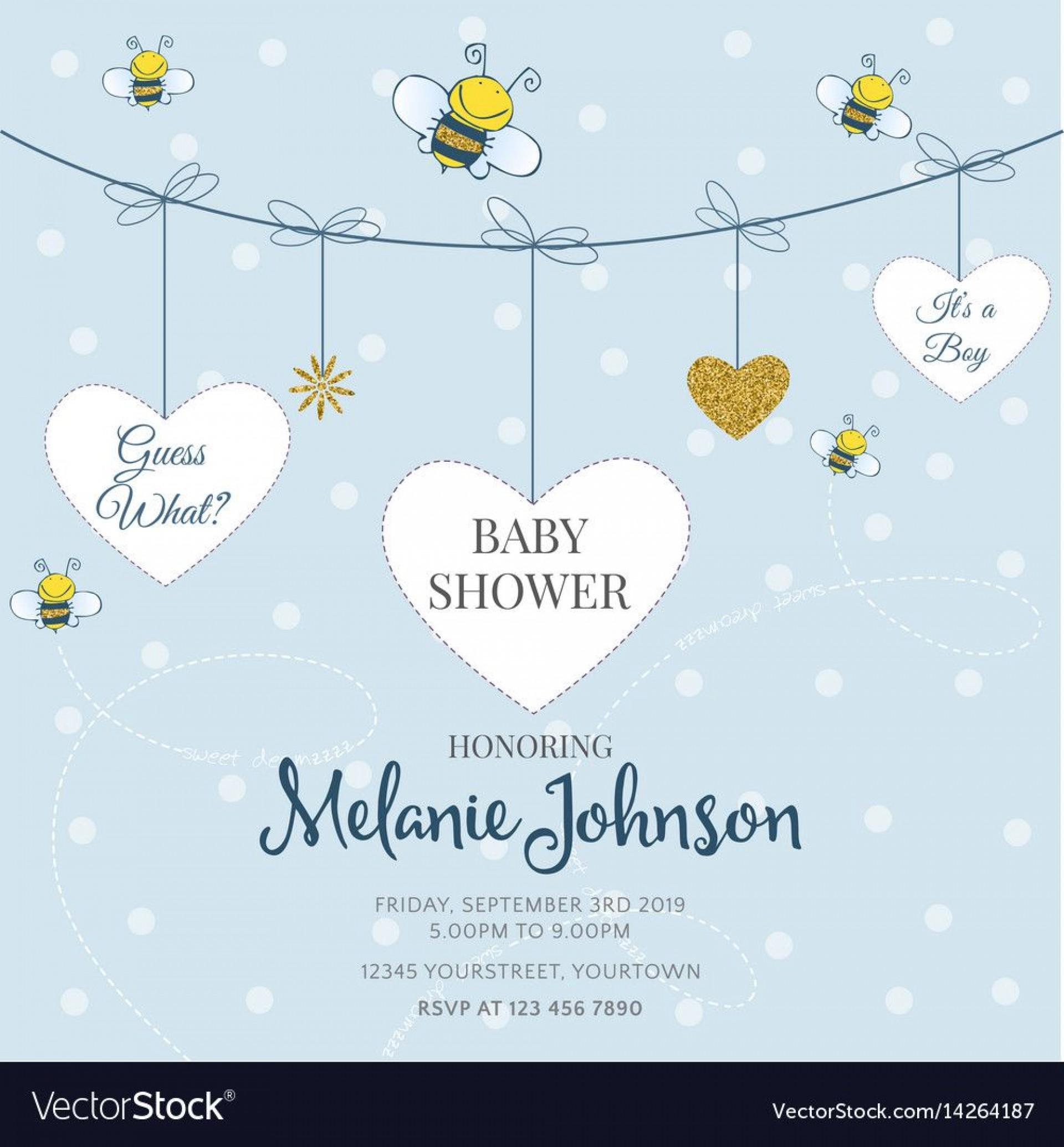 009 Sensational Baby Shower Card Template Idea  Microsoft Word Invitation Design Online Printable Free1920