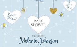 009 Sensational Baby Shower Card Template Idea  Microsoft Word Invitation Design Online Printable Free