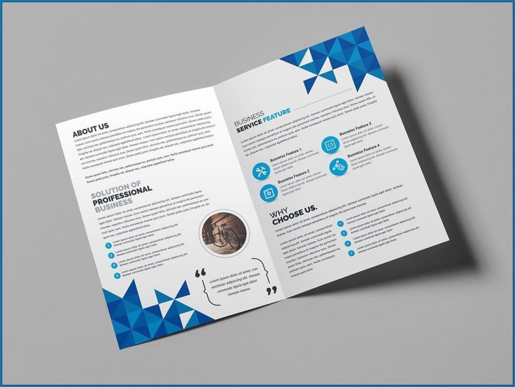 009 Sensational Bi Fold Brochure Template Word Sample  Free Download MicrosoftLarge