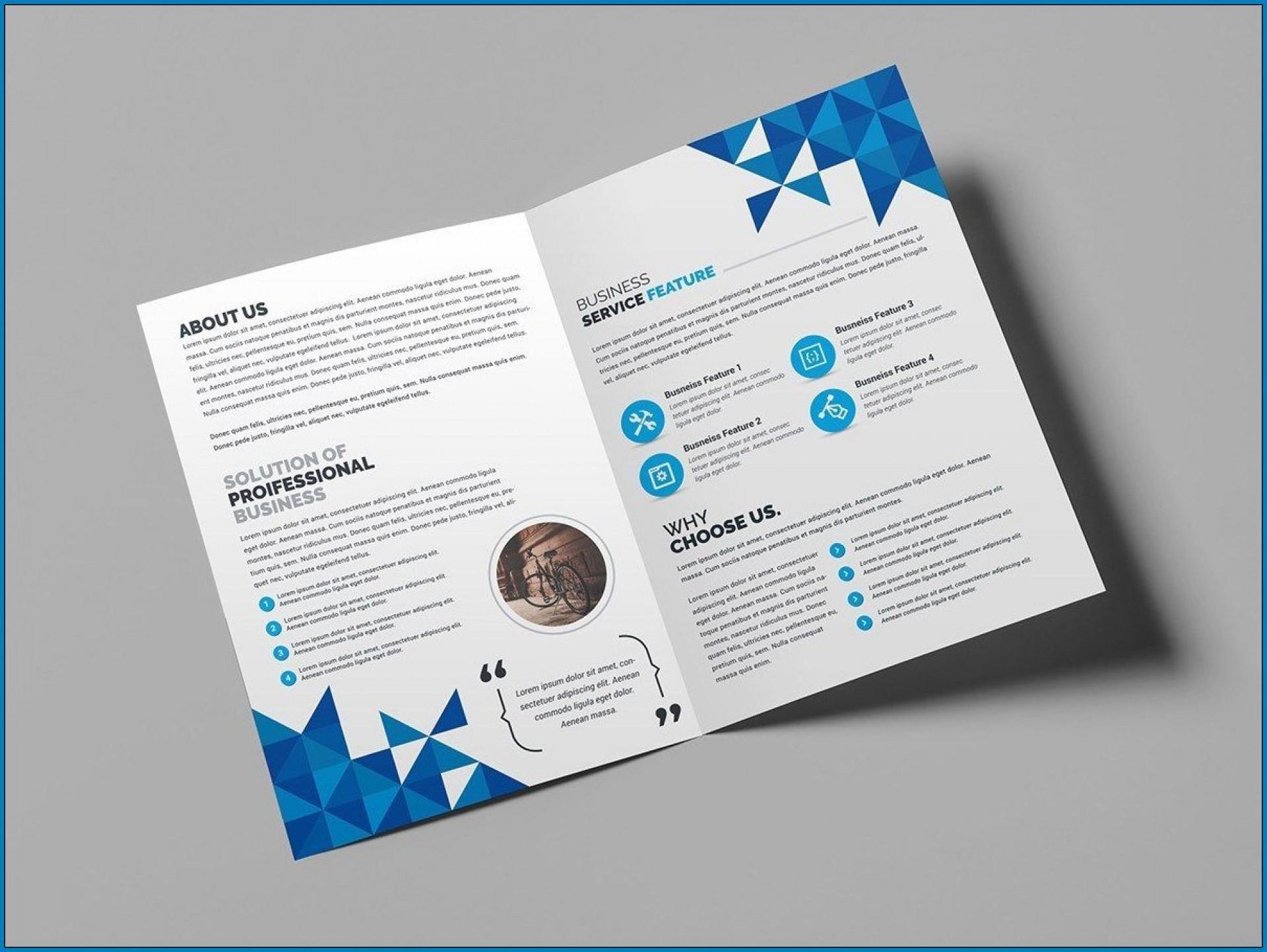 009 Sensational Bi Fold Brochure Template Word Sample  Free Download Microsoft1920