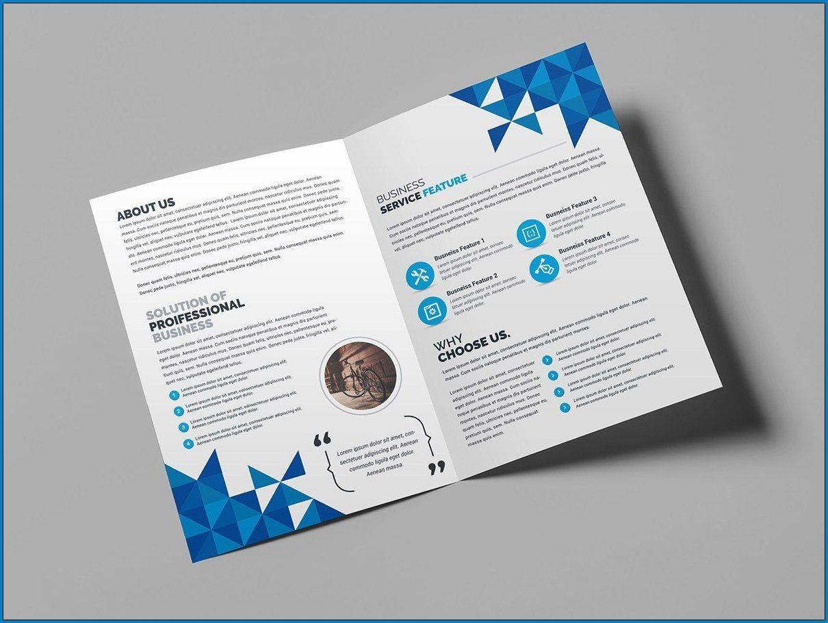 009 Sensational Bi Fold Brochure Template Word Sample  Free Download MicrosoftFull