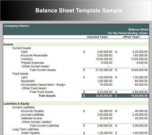 009 Sensational Busines Balance Sheet Template Concept  Word Excel Small SampleFull