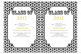 009 Sensational College Graduation Invitation Template Photo  Free For Word Party